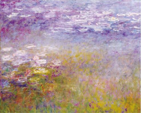 Hllhpc Monet nenúfares Pinturas Pared Flor reproduccion