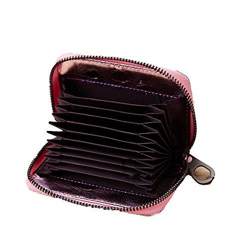 GSPStyle monete da donna in cuoio, Borsa Business a portafogli con porta carte di credito, Oro (Oro) - 006972 rosa