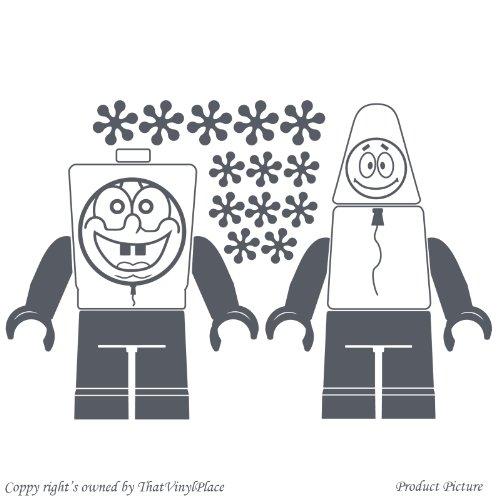 Preisvergleich Produktbild Lego, Legos, Lego-Figur, Lego, Fihures Lego Menschen, Menschen, Lego-Spiel Minifigur, Lego Minifigur (58 cm x 38 cm), Farbe: Dark Gray Badezimmer Childs Schlafzimmer Kind-Raum-Aufkleber Auto Vinyl, Fenster und Wand-tattoo/aufkleber Wand ThatVinylPlace Wandtattoo Windows-Art