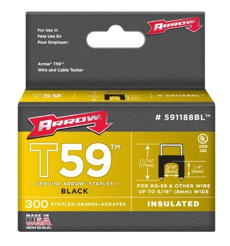 arrow-591188blss-genuine-t59-stainless-black-1-4-inch-by-5-16-inch-staples-300-pack-by-arrow-fastene