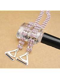 COPPIA D/'oro diamante di cristallo regolabile staccabile spalline reggiseno