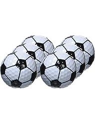 LONGRIDGE Lot de 6 balles de golf Noir/Blanc