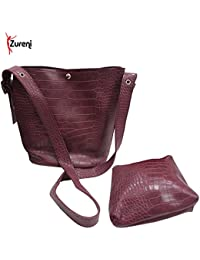 Zureni Imported PU Leather Women Handbag Crossbody Stylish PU Leather Shoulder Bag For Girls Tote Travel Bag With...