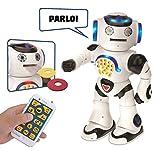LEXIBOOK - il Primo Robot Giocare e Imparare - Giocattolo Bambine dai 4 ai 7 anni - Danza, Musica, Quiz Educativi, Raccontare Storie, Riprodurre Dischi, Colore Bianco/Nero, ROB50IT