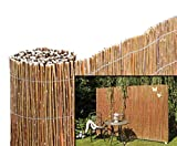 bambus-discount.com Weidenmatte Model Chiemsee 200 x 500cm - Sichtschutz Matten - Naturmatten