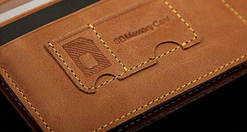 ZXDOP Brieftasche Männer Leder Brieftasche Retro Herren Zipper Lange Dünne Herren Leder Brieftasche ( farbe : 3# ) 2#