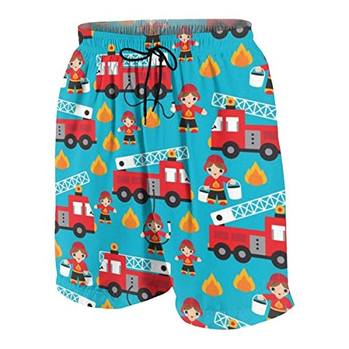 magic ship Fire Truck and Hero Boys Car Boys Beach Shorts Quick Dry Beach Swim Trunks Kids Swimsuit Beach Shorts,Fit Elastic Waist Shorts M (Oakley Golf Boys)
