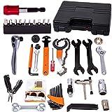 COZYROOMY Fahrrad Reparatur Werkzeug Set - Fahrrad Werkzeugkoffer, Fahrradwerkzeugset für Fahrrad Montagearbeiten und Reparaturen, Fahrrad Werkzeug mit Tragekoffer und Multitool. 6 Monate Garantie
