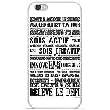 Housse Coque Etui Apple iPhone 6 / 6S silicone gel Protection arrière - Citation 11