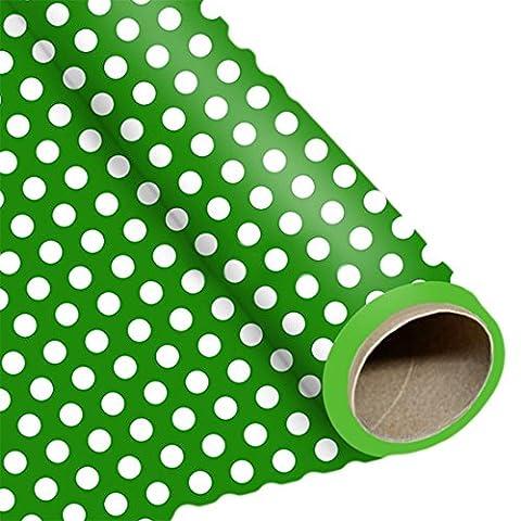 erdbeerloft - Dekoration Geburtstag Party Geschenkpapier Punkte, Grün (Schmetterling Tuch Lätzchen)