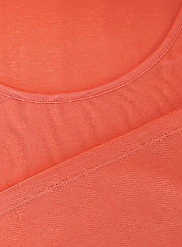 oodji Collection Femme Débardeur Basique Orange (5500N)