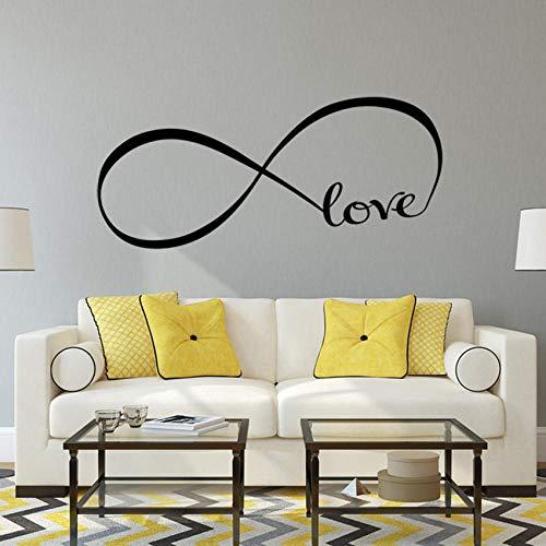 Liebe Schlafzimmer Dekor Infinity Symbol Wort Liebe Schlafzimmer Vinyl Wall Art DecalsWandaufkleber Wand-Aufkleber Wandtattoo Aufkleber (Infinity-wandtattoos Den Sie Um Lieben,)