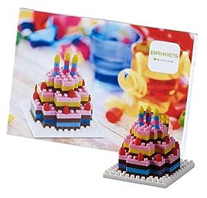Brixies- Postal Tarta DE CUMPLEAÑOS, Multicolor (Schäfer Toy Company GmbH BX220.012)