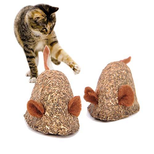 Vidillo - Ratón de juguete para gatos, juguete comestible...