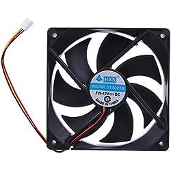 Domybest Silencieux Radiateur -120x25mm 12V 3Pin DC Ventilateur de Refroidissement Sans Brosse pour Ordinateur-Réservoir de Refroidissement de l'Unité Centrale Noir