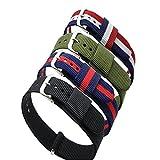 Ritche, 4 cinturini di ricambio per orologio da polso, in nylon, larghezza 18mm