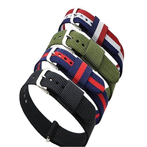 ritche-4-piezas-18-mm-nailon-rayas-azul-rojo-azul-blanco-rojo-negro-ejercito-verde-sustitucion-corre