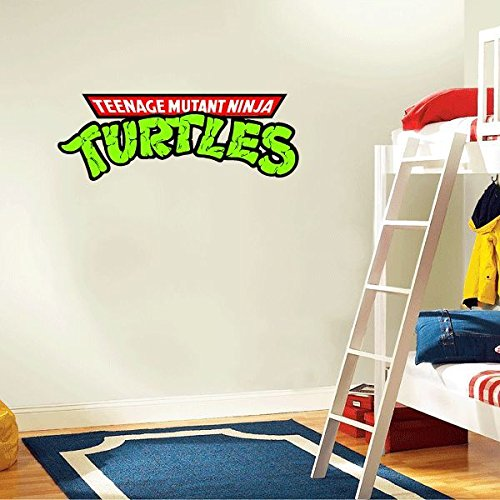 Teenage Mutant Ninja Turtles Slogan Cartoon Home Decor Art Wall Vinyl Sticker 63 x 23 cm