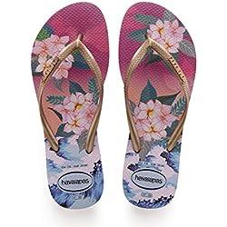 Havaianas Tropical Sunset, Chanclas para Mujer, Multicolor (Hollywood Rose 0064), 43/44 EU
