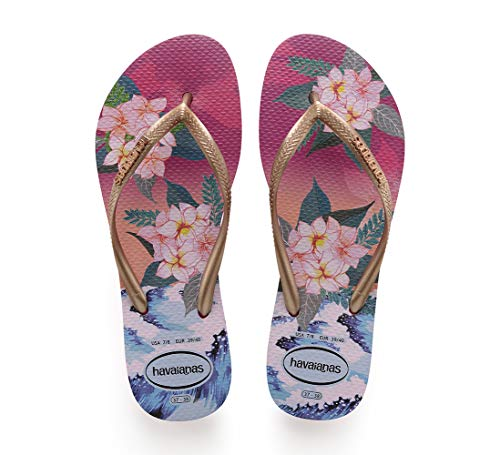 Havaianas Tropical Sunset, Chanclas para Mujer, Multicolor Hollywood Rose 0064, 37/38 EU