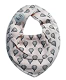 Pippi ♥ Baby Kinder Halstuch Dreieckstuch ♥ lachs mit Heißluftballon ♥