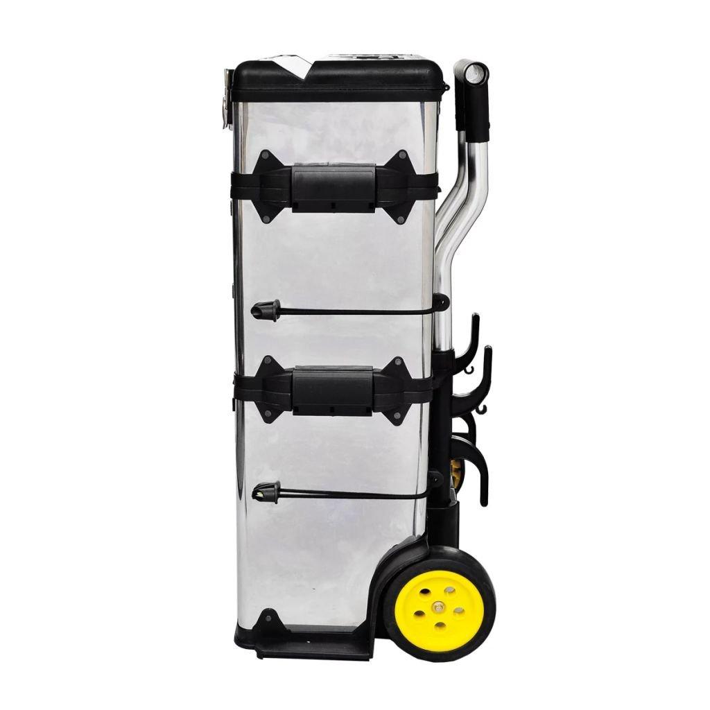 Carro Herramientas Taller Cajas de Herramientas Largo X AnchuraX Altura Carro de Herramientas de 3 M/ódulos Color Plata 56,5x35x77-92cm