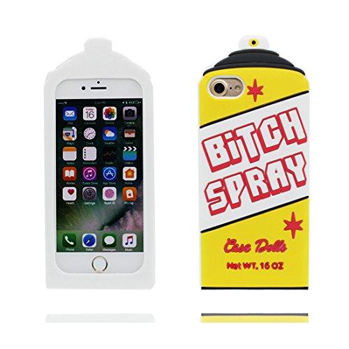 3D Ananas | iPhone 7 Custodia, Gomma morbida del silicone case cover Gocce dassorbimento di scossa Defend Anti Scratch protettivo Copertura per iPhone 7 4.7 Color 4