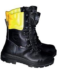 Botas de protección de corte de cofra Woodsman BIS con protección de sierra, negro, 25580-000
