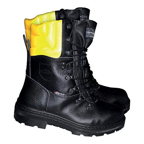 Cofra Schnittschutz-Stiefel Woodsman BIS Forstarbeiter Arbeitsstiefel mit Sägeschutz 45, schwarz, 25580-000
