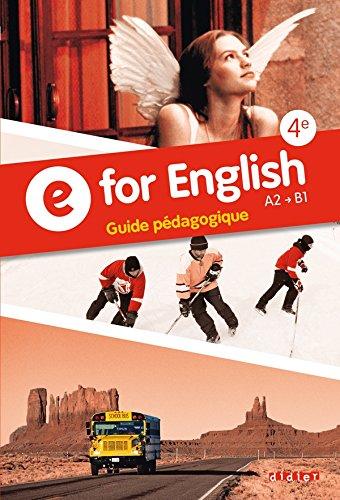 E for English 4e - Guide pdagogique - version papier