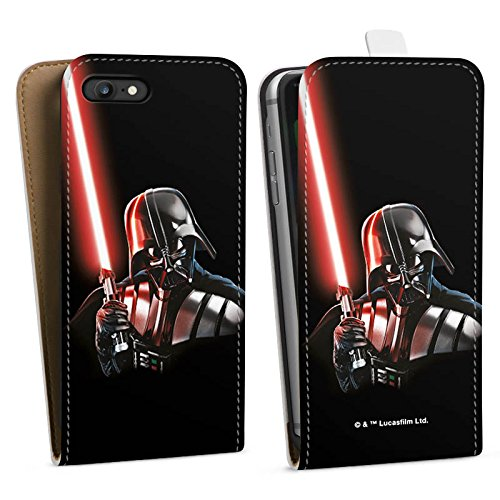 Apple iPhone 8 Silikon Hülle Case Schutzhülle Star Wars Fanartikel Merchandise Darth Vader Downflip Tasche weiß