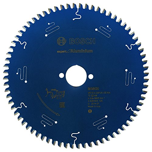 Bosch Kreissägeblatt Expert für Aluminium, 210 x 30 x 2,8 mm, Zähnezahl 72, 1 Stück, 2608644105 (Aluminium-kreissägeblatt)