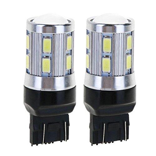 Youn 2 pcs T20 5 W Blanc LED Cree Chip 12smd Auto Feux de stop Recul ampoule lampe