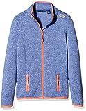 TOM TAILOR Kids Mädchen Jacke Knit Look Fleece Jacket, Blau (Preppy Jean Blue 6682), 176