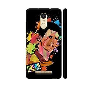 Colorpur Redmi Note 3 Cover - Novak Djokovic Painting On Black Printed Back Case