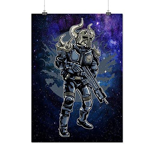 Platz Krieger Mode Mattes/Glänzende Plakat A3 (42cm x 30cm) | (Samurai Krieger Weibliche Kostüm)