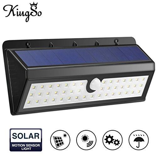 KINGSO Solar Sensor 44LED Solarleuchten mit Bewegungssensor /Betriebene Außenleuchte/ Wasserdichte Energiesparlampe / solar sensor licht für Garten,Hof, Deck, Hof - Haut-gasse