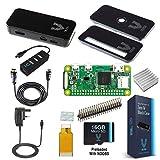 Vilros Raspberry Pi Zero W Complete Starter Kit-Black Case Edition-Includes Pi Zero W and 7 Essential Accessories