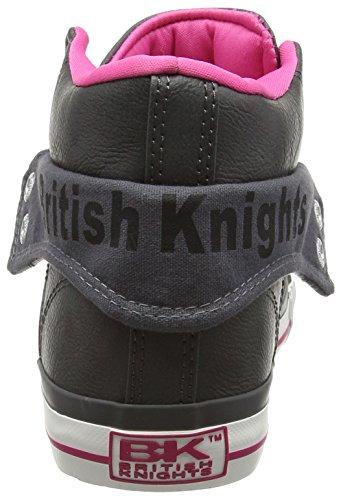 British Knights - Roco, Sneaker Donna Grigio (Gris (DK Grey-Fuchsia 06))