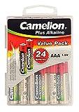 Camelion 11112403 Plus Alkaline Batterien Blister Box LR03 Micro, 24er-Pack