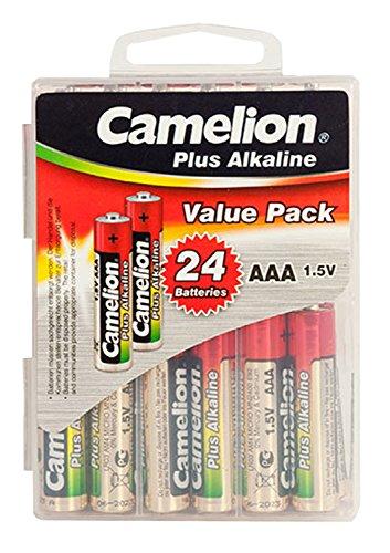 Camelion 11112403 Plus Alkaline Batterien Blister Box LR03 Micro, 24er-Pack Alkaline-batterie-box