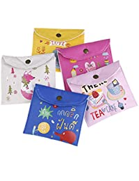 MK Sanitary Napkin pad Pouch Organiser Storage for Women Set of 2 Pieces Assorted Color