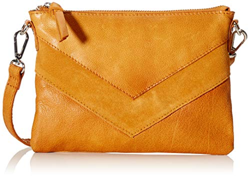 Pieces Pcingrid Leather Cross Body femme Sacs bandoulière Marron (Cognac) 1x15x22 Centimeters (B x H x T)