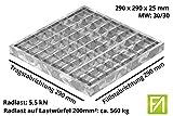 Fenau | Garagen-Gitterrost/Baunorm-Rost Maße: 290 x 290 x 25 mm - MW: 30 mm / 30 mm (Vollbad-Feuerverzinkt) (Passend für Zarge: Fenau 300 x 300 x 28 mm) Industrie-Norm-Rost für Lichtschacht
