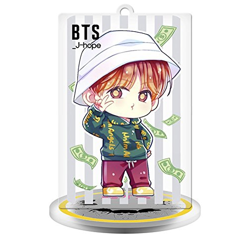 Grapes Garden BTS Kpop Mini Humanoid Toy Bureau Décor Maison Art Décoration Suga Jimin Jin Jung Jook J-Hope Rap-Monster (1re génération à la 5e génération)( Cartoon 1 J-Hope)