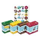 OLShop AG Adventskalender zum Befüllen 24 Adventsboxen für Kinder inkl. Kissenverpackung Stern, Weihnachtskalender zum Selbstbefüllen