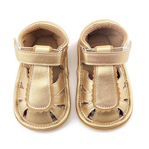 Pour 0-12 mois Bébé,Transer ® Joli bébé fille garçon Toddler sandales cuir semelle souple Sneaker Or