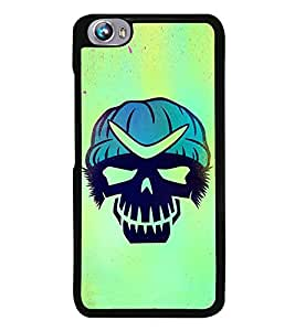 Fuson Premium 2D Back Case Cover Skull With Blue Background Degined For Micromax Canvas Fire 4 A107