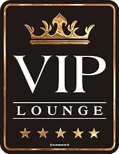 Original RAHMENLOS Targa in metallo VIP Lounge N. 3484