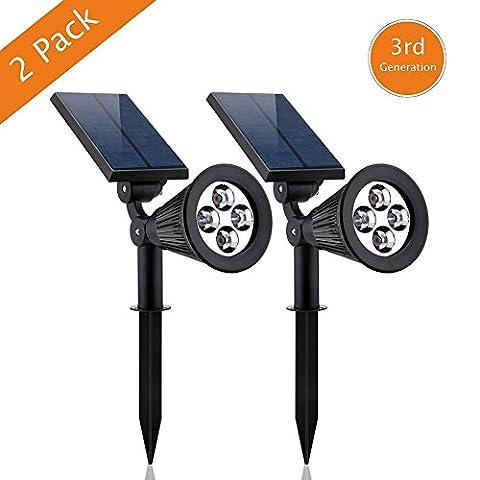 Spot à énergie solaire LED ultra-lumineux, étanche, longue durée de vie, rentable, sûr pour jardin et allées